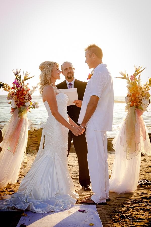 Laguna beachfront wedding